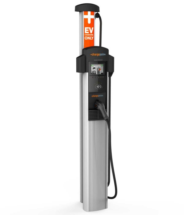 ChargePoint CT4011 electric car charging station EVSE - right side view