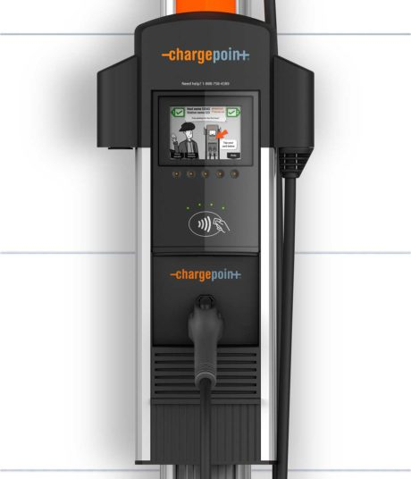 ChargePoint CT4013 electric car charging station EVSE - close-up view