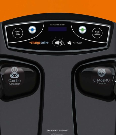ChargePoint Express 200 CPE200 electric car charging station EVSE - close-up view