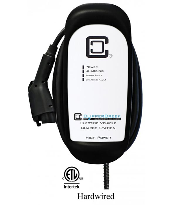 ClipperCreek HCS-50 electric car charging station EVSE - overall view