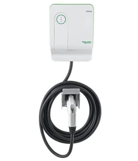 Schneider Electric EVlink EV230WS electric car charging station EVSE - straight view
